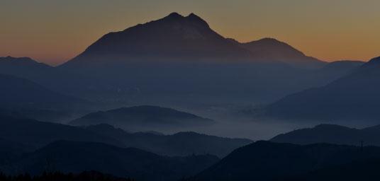 由布岳のある景色